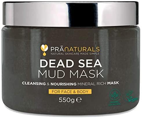 PraNaturals Maschera ai fanghi del Mar Morto 550g, 100% Naturale, Ricca di...
