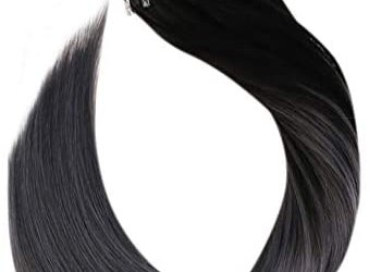 Ugeat 50 Strands Easy Loop Micro Ring Hair Extensions 14 Pollici Brasiliano…