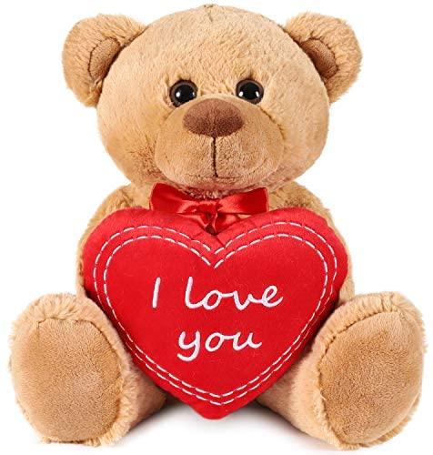 Brubaker Orsacchiotto Orso di Peluche con Scritta I Love You su Un Cuore di...