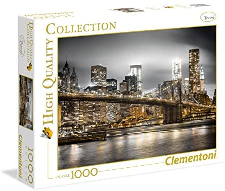 Clementoni- New York Skyline High Quality Collection Puzzle, 1000 Pezzi,...