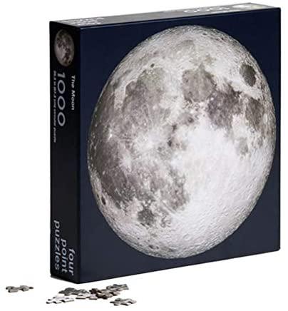 Deeabo Puzzle Rotondo da 1000 Pezzi, Puzzle Rotondo Luna/Terra, Giocattoli...