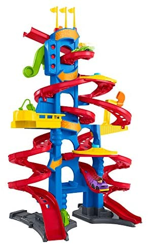 Fisher-Price- Little People Skyway Città Trasformabile, Playset Pista con...
