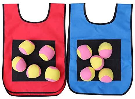 NUOBESTY 12pcs Dodgeball Tag appiccicoso gilet gioco di lancio all'aperto...