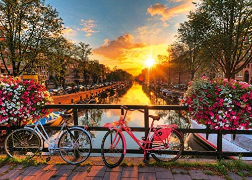 Ravensburger-Biciclette ad Amsterdam Foto e Paesaggi, 1000 Pezzi Puzzle da...