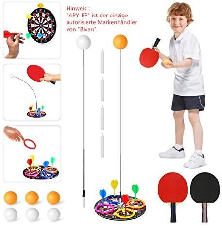Bivan Dispositivo di Allenamento per Ping-Pong, Set da Ping-Pong Portatile...