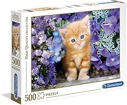 Clementoni- Gattino Rosso High Quality Collection Puzzle, Multicolore, 500...