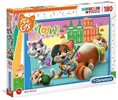 Clementoni- Supercolor Puzzle-44 Gatti-180 Pezzi, Multicolore, 29763