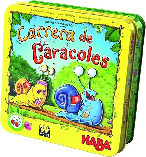 HABA-Gioco da Tavolo Carrera di Lumache, Multicolore (Habermass H304123)