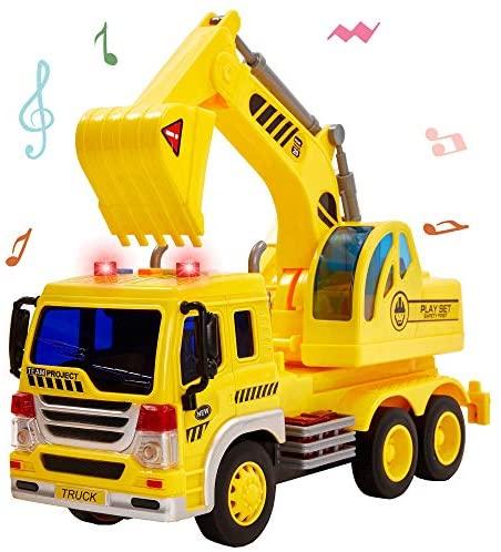 HERSITY Escavatore Camion Grande Macchinine Giocattolo con Luci e Suoni...