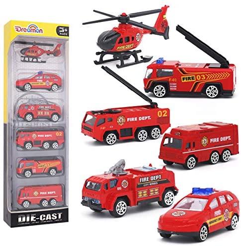 Mini Camion dei Pompieri Modelli Costruzione Veicoli Giocattolo per Bambini...