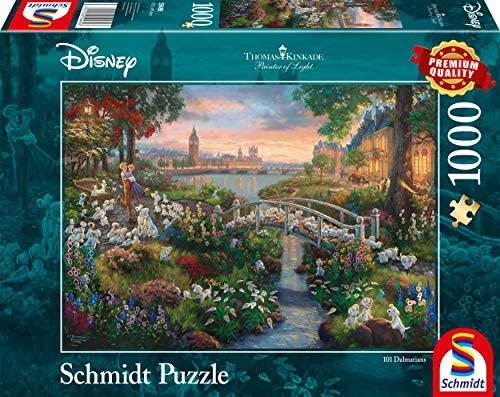 Schmidt Spiele- Thomas Kinkade Disney 101 Dalmata Puzzle 1000 Pezzi,...