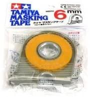 Tamiya 300087030 - Nastro di Copertura con Dispenser, 6 mm x 18 m