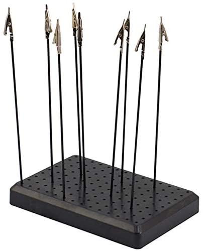 Base in piedi per modellismo, con 10 morsetti a coccodrillo in metallo,...