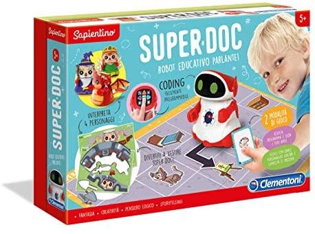 Clementoni- Sapientino-SuperDoc, Robot educativo per Bambini (Versione...