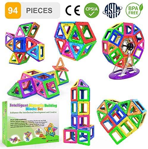 Desire Deluxe 94 Pezzi Costruzioni Magnetiche per Bambini Gioco Educativo e...