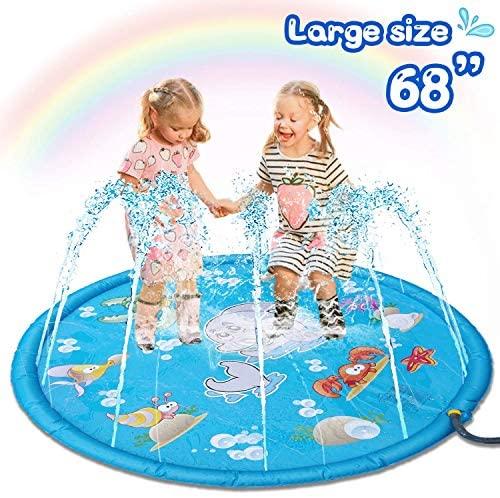 Gioco Splash Pad per Bambini Gioco di Spruzzi d'Acqua Tappetino Pad Splash...