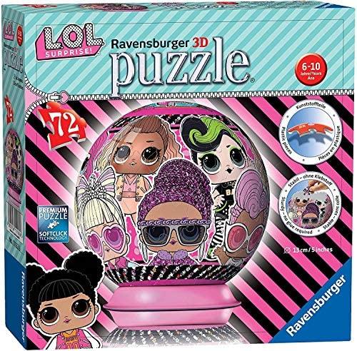 Ravensburger L.O.L. 3D Puzzle Ball, Multicolore, 11162