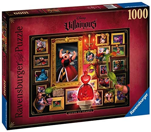 Ravensburger- Villainous: Queen of Hearts Disney Puzzle da Adulti,...