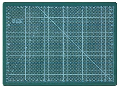 Wedo 079130 Cutting Mat, Tappetino da Taglio 300 x 220 x 3 mm, 30 cm, Verde