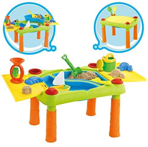 deAO Tavolo da Gioco con Acqua e Sabbia attività per Bambini all'Aperto...