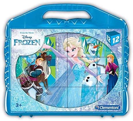Clementoni- Frozen Puzzle Cubi, 12 Pezzi, 41186