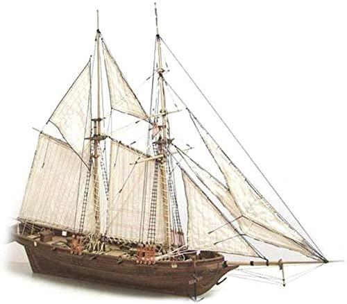 LQKYWNA Halcon1840 Legno Assemblato A Vela Modello 1: 100 Fai da Te...