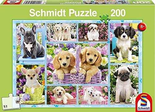 Schmidt- Puzzle Cuccioli 200 Pezzi, 56162