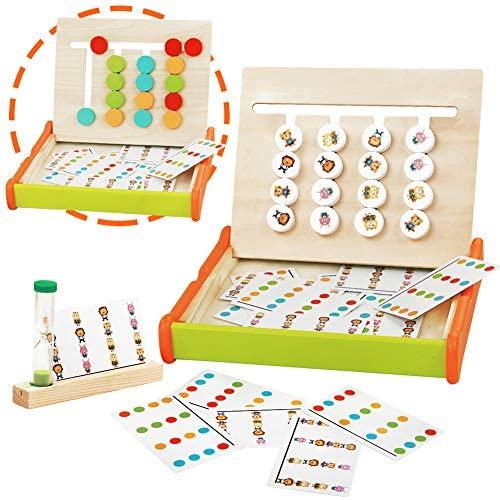 jerryvon Giochi Montessori in Legno Puzzle Bambini Logica Gioco Colore...