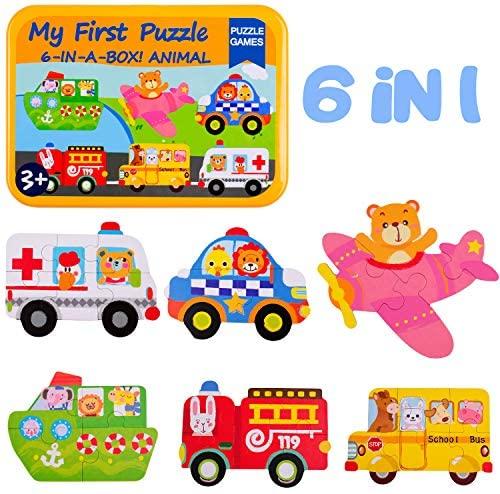 rolimate Puzzle di Legno per Bambini, Puzzle di Veicoli utilitari di...