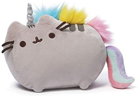 GUND- Peluche Gatto Pusheen Unicorno, 33 cm, da 1 Anno, 6055550