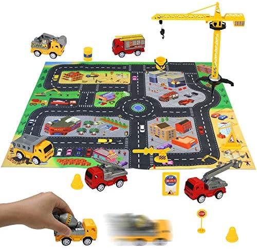 Macchinine Giocattolo Costruzioni per Bambini 6 Pezzi Camion Cars...