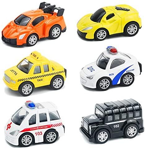 Buyger 6 Pezzi Mini Auto Giocattolo Macchine Veicoli Metallo per...