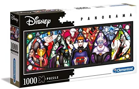 Clementoni - 39516 - Disney Panorama Collection - Villains - 1000 Pezzi -...