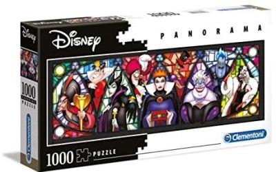Clementoni – 39516 – Disney Panorama Collection – Villains – 1000 Pezzi -…