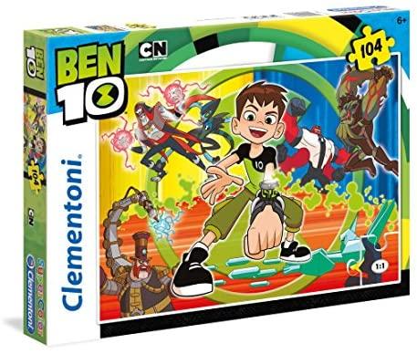 Clementoni Ben 10 Supercolor Puzzle Maxi, 104 Pezzi, 27082