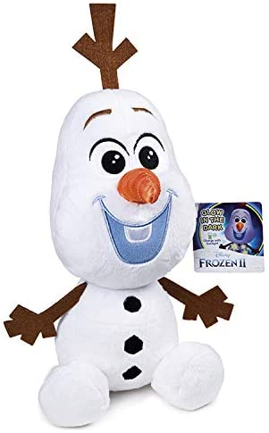 Grandi Giochi GG01297, Disney Frozen 2 Peluche Olaf 30cm Glow in The Dark