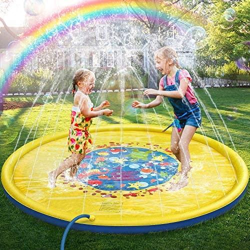 Jojoin 68 Pollici Bambini Giochi d'Acqua, Splash Play Mat Sprinkler Pad -...