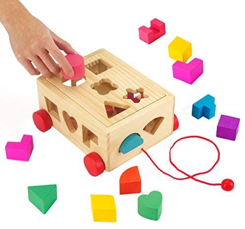 Surplex Gioco Forme a Incastro per Bambini in Legno Tridimensionali...
