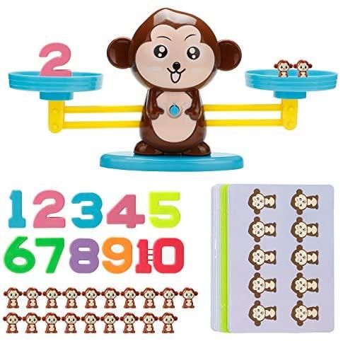 Vintoney Giocattolo Educativo Bambini Bilancia Equilibrio a Forma di...