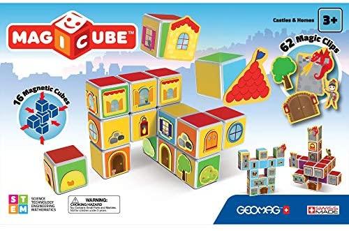 Geomag- Castles & Homes Gioco di Costruzione con Cubetti Magnetici,...