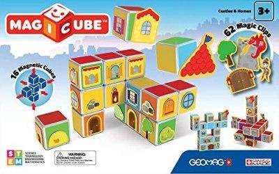 Geomag- Castles & Homes Gioco di Costruzione con Cubetti Magnetici,…