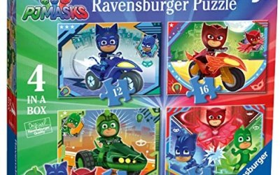 Ravensburger Puzzle Pj Mask Puzzle 4 in a box Puzzle per Bambini