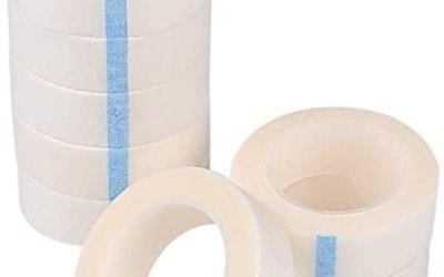 TUPARKA 8 rotoli nastro adesivo per ciglia nastro adesivo bianco per…
