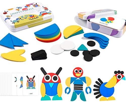 iLink I Giochi a Puzzle in Legno di Montessori per Bambini, i Pezzi di...