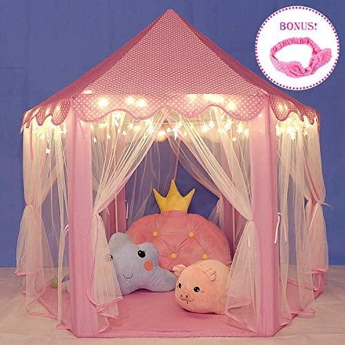 E-MANIS Tenda da Gioco per Bambini,Portatile Tenda Gioco per Bambini Rosa...