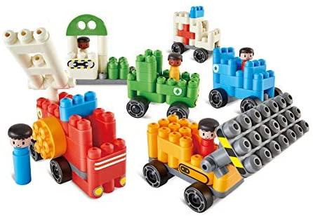 Poly-M 760024 Hape PolyM City - Set di 130 giocattoli per veicoli in...
