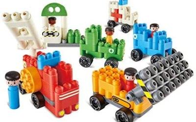 Poly-M 760024 Hape PolyM City – Set di 130 giocattoli per veicoli in…