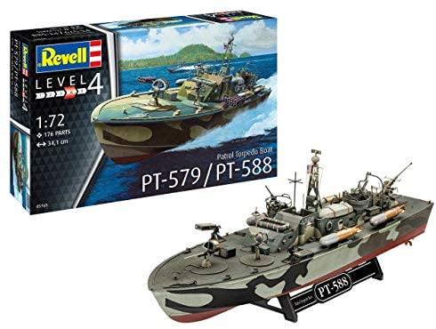 Revell- Patrol Torpedo Boat PT-588/PT-579 Kit di Modelli in plastica,...