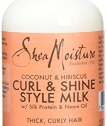 Shea Moisture – Latte lucidante e modellante per ricci, a base di cocco e…