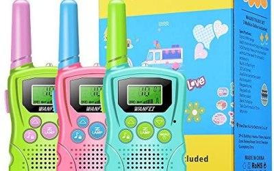 WANFEI Walkie Talkie Bambini 3 Pezzi,Radio a 8 Canali con Torcia LCD…